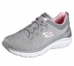 12716 Gray Light Pink Skechers shoe Memory Foam Women Slip O