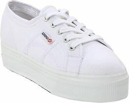 Superga Women's 2790 Acotw Fashion Sneaker, White, 38 EU/7.5