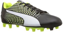 PUMA Kids' Adreno III FG Soccer-Shoes,Puma Black-Puma White-