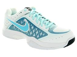Nike Women's Air Cage Court White/Clrwtr/Ic Cb Bl/Lt Bl Lc T