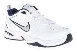 Nike Air Monarch IV White, Silver, Navy Mens Training Sneake
