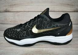 Nike Air Zoom Cage 3 Hard Court Tennis Shoes Black Gold 9181