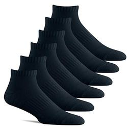 BERING Men's Low Ankle Cushioned Athletic Socks with Arch Ba