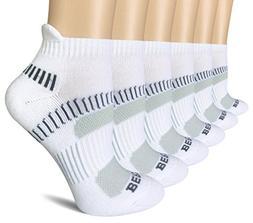 BERING Women's Performance Athletic Running Tab Socks, White