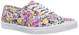 New Vans Authentic Lo Pro Floral Violet 6.5/8 Unisex Shoes