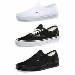 Vans Authentic Skateboard Classic Black White Mens Womens Sn