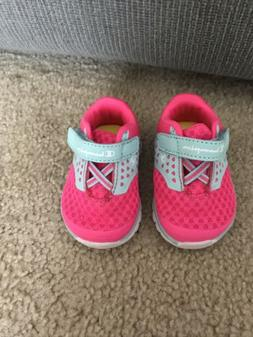 Baby Girl Champion Tennis Shoes Size 1W Pink And Mint Green