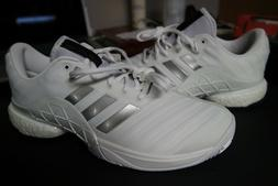 Adidas Barricade 2018 Boost Men's Sz 10.5 Tennis Shoes White