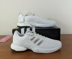 Adidas Barricade 2018 Boost Mens Tennis Shoe White Silver DB