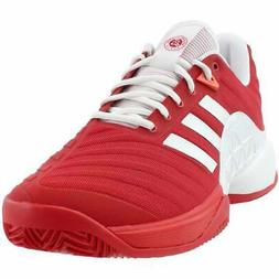 adidas Barricade 2018 Clay  Casual Tennis Court Shoes - Red
