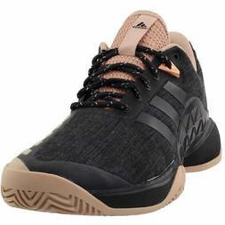 adidas Women's Barricade 2018 LTD Tennis Shoe, ash Pearl/Bla