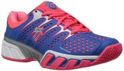 K-SWISS Women's Bigshot II Tennis Shoe,Daphne Blue/Neon Red/