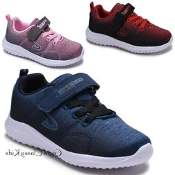 Boys Girls Tennis Shoes Sneakers Strap Athletic Running Yout