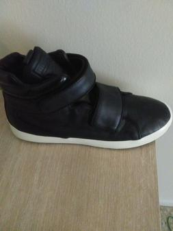 Brand new Mens leather Puma high top sneakers size 9 Black