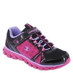 b4096953725ded Champion Girls  Black Pink Girls  Capri Runner 6 Regular