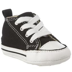 Converse Kids' First Star High Top Sneaker, Black, 4 M US To