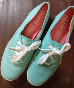 KEDS Classic Champion Oxford Tennis Aqua Shoes Women's US 8