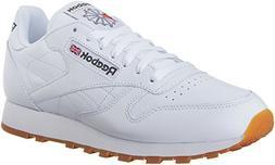 Reebok Men's Classic Leather Fashion Sneaker, Us-Black/Gum,