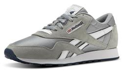 Reebok Classic Nylon Platinum, Jet Blue Mens Running Tennis