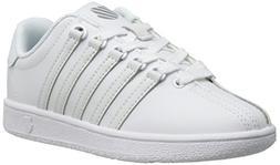 K-Swiss Classic Vintage PS Tennis Shoe ,White/White,2.5 M US