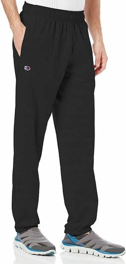 Champion Men's Closed Bottom Jersey Pant, Black, Small