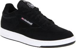 Reebok Men's Club C Shoe,Black/White/Black,10.5 M US