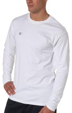 Champion Cotton Jersey Long-Sleeve Men's T Shirt_White_X-Lar