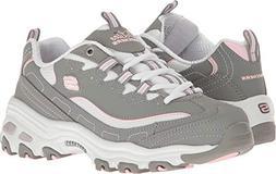 Skechers Sport Women's D'Lites Memory Foam Lace-up Sneaker,B