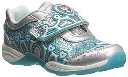 Stride Rite Disney Frozen Light-Up Sneaker ,Silver/Turquoise