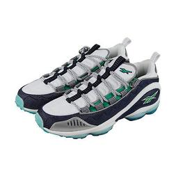 Reebok Dmx Run 10 V44402 Mens White Canvas Casual Lace Up Lo
