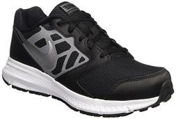 NIKE Boys' Downshifter 6 Running Shoe , Black/Metallic Silve