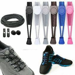 Elastic No-Tie Shoelaces Black, Running Sport Triathlon Shoe