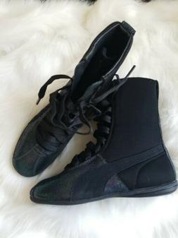 PUMA ESKIVA DEEP SUMMER Black Sneaker Hi Top Tennis Shoe Tra