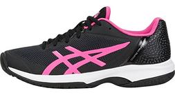 ASICS Womens Gel-Court Speed Sneaker, Black/Hot Pink/White,
