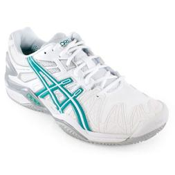 ASICS Women's Gel-Resolution 5 Clay Court Tennis Shoe,White/