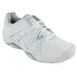 ASICS Women's Gel-Resolution 6 Clay Court Tennis Shoe,White/