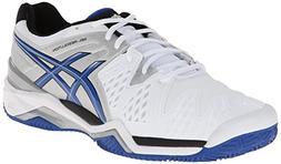 ASICS Men's Gel-Resolution 6 Clay Court Tennis Shoe,White/Bl
