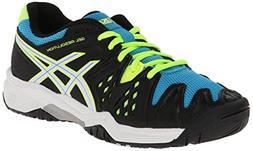 ASICS GEL Resolution 6 GS Tennis Shoe ,Onyx/White/Atomic Blu