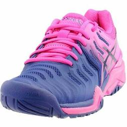 gel resolution 7 casual tennis shoes blue
