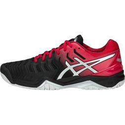 Asics Gel Resolution 7 men tennis shoes Black/Silver/Scarlet