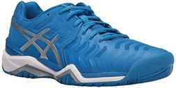 ASICS Men's Gel-Resolution 7 Tennis Shoe, Directoire Blue/Si