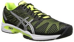 ASICS Men's Gel-Solution Speed 2 Tennis Shoe,Onyx/Flash Yell