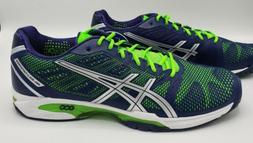 Asics Gel Solution Speed 2 Tennis Shoes Blue Silver Green Me