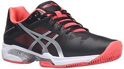 ASICS Women'S Gel-Solution Speed 3 Clay Tennis Shoe, Black/S