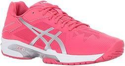 ASICS Women's Gel-Solution Speed 3 Tennis-Shoes, Rouge Red/S