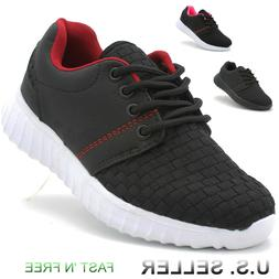 Girls Boys Sneakers Athletic Tennis Shoes Running Lace-Up Ki