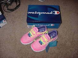 GIRLS CHAMPION GUSTO SOCKFIT TENNIS SHOES SNEAKERS NEW SIZE