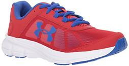 Under Armour Kids' Grade School Rave 2 Sneaker,Red /White,4