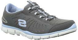 Skechers Gratis In Motion Womens Casual Sneakers Charcoal/Li