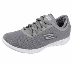 Skechers Gray shoe Women Go Walk Comfort Mesh Casual Sport L